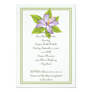 Stargazer lily lilac purple wedding bridal shower card