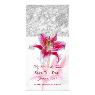Stargazer Lily Save The Date PhotoCards Card