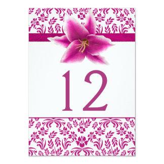 Stargazer Lily Wedding Table Number 11 Cm X 16 Cm Invitation Card