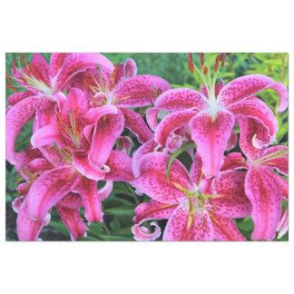 Stargazer Oriental Lilies, full flowers Tissue Paper