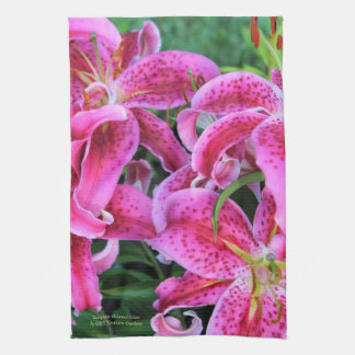 Stargazer Oriental Lilies Tea Towel