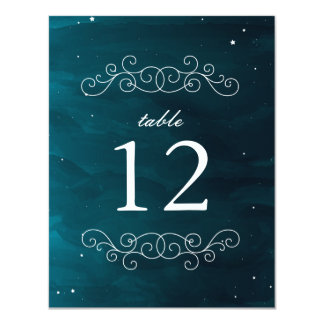 Stargazer Table Number Card