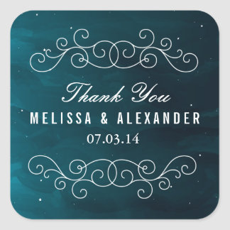 Stargazer Wedding Favor Stickers