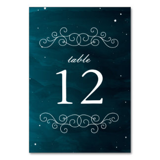 Stargazer Wedding Table Numbers