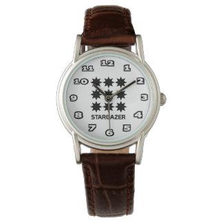 StarGazer Women's Classic Brown Leather Watch