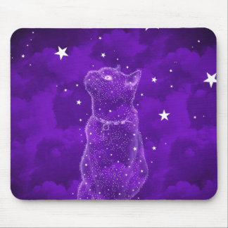 Stargazing Cat Mousepad
