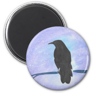 Stargazing Crow Magnet