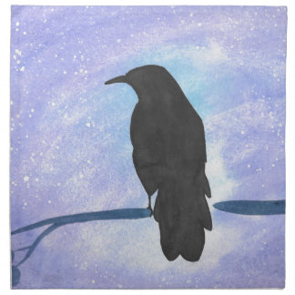 Stargazing Crow Napkin