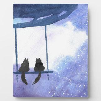 Stargazing Kitties Plaque