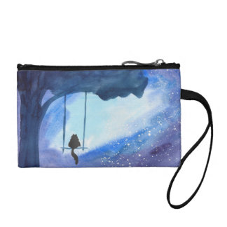 Stargazing Kitty Clutch Coin Wallets