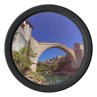 Stari Most, Mostar, Bosnia and Herzegovina Poker Chips