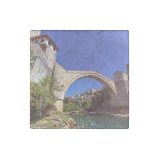Stari Most, Mostar, Bosnia and Herzegovina Stone Magnet