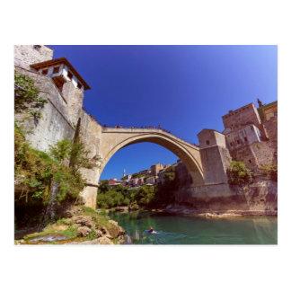 Stari Most, old bridge, Mostar, Bosnia and Herzego Postcard