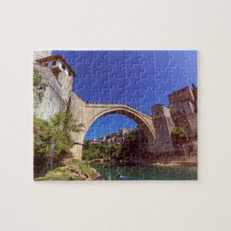 Stari Most, old bridge, Mostar, Bosnia and Herzego Puzzle