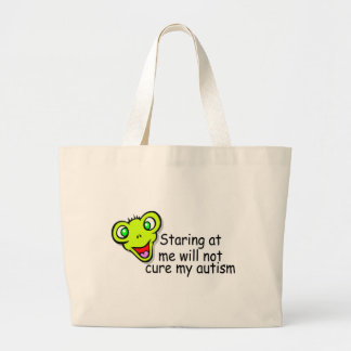 Staring At Me Will Not Cure Me Autism Alien Tote Bag