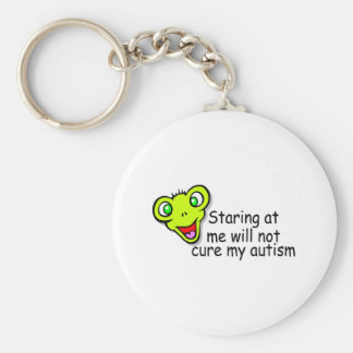 Staring At Me Will Not Cure Me Autism (Alien) Keychain