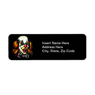 Staring Evil Clown Return Address Label