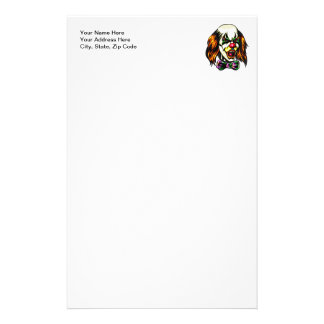 Staring Evil Clown Stationery