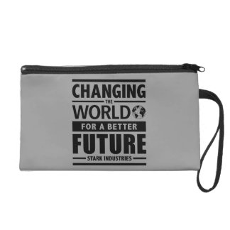 Stark Industries Changing The World Wristlet Clutch