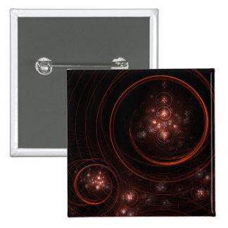 Starlight Abstract Art Button (square)