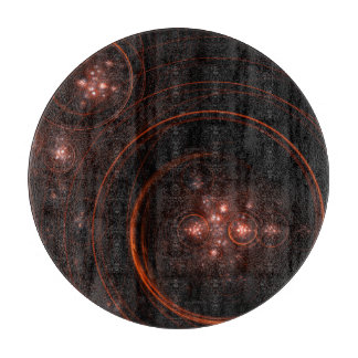 Starlight Abstract Art Circle Cutting Board