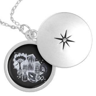 Starlight Abstract Locket
