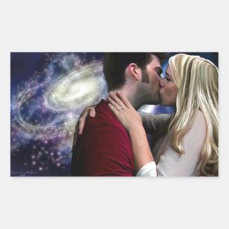 Starlight In Her Kiss Rectangular Sticker