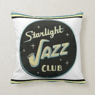 Starlight Jazz Club Pillow