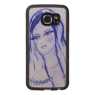 Starlight Mary - Blue - Wood Phone Case