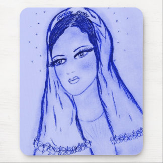 Starlight Mary in Blue Mouse Pad