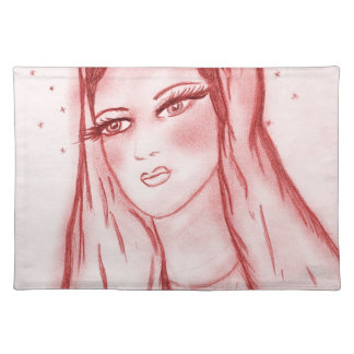 Starlight Mary - Red Placemat