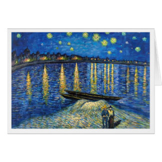Starlight Over the Rhone Greeting Card