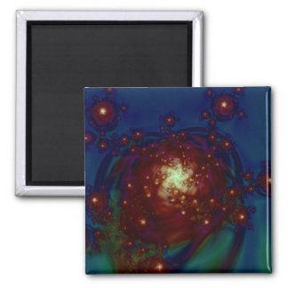 """Starlight Rose Galaxy"" ~ Abstract Art Print Magnet"