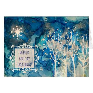 Starlight Winter Greetings Card