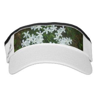 Starlike White Flowers Visor