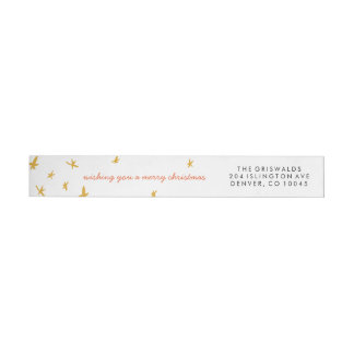 Starlit Tree Wraparound Address Label