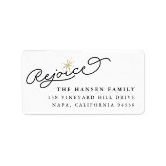 Starred Rejoice | Holiday Oversized Return Address Address Label