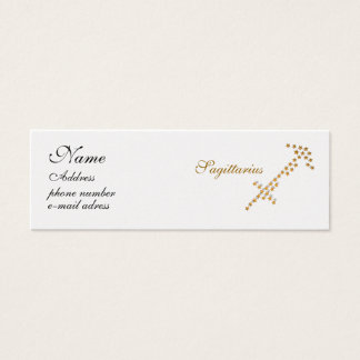 starred sign Sagittarius Mini Business Card
