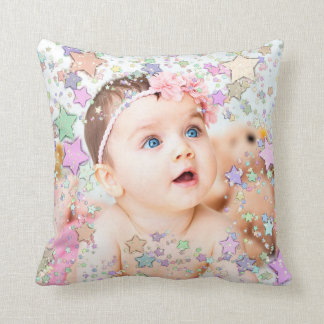 Starry Baby Photo Personalised Pillow