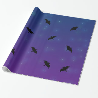 Starry Bat Wrapping Paper