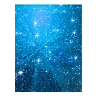 Starry blue sky postcard