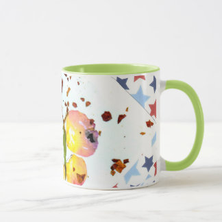 Starry Butterfly, green ringer 11oz coffee/tea mug