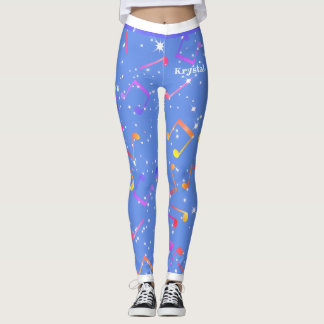 Starry Christmas Music Notes (Your Name) Leggings