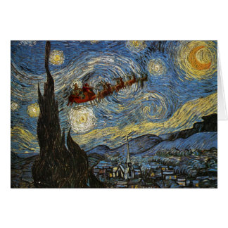 Starry Christmas Night Card