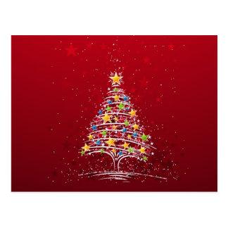 Starry Christmas Tree Postcard