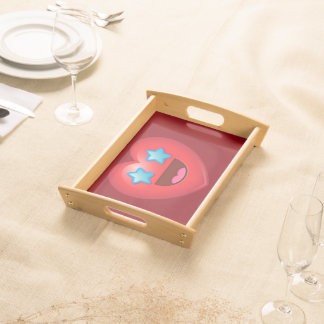 Starry Eye Heart Emoji Serving Tray