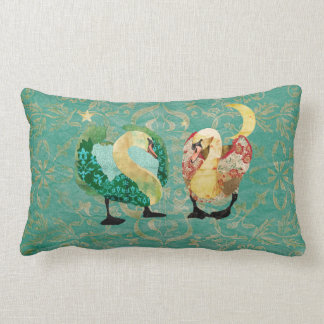 Starry Eyed Swans Mojo Pillow