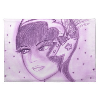 Starry Flapper - Purple Placemat