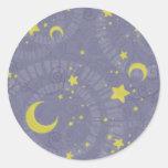 Starry Fortune Round Sticker