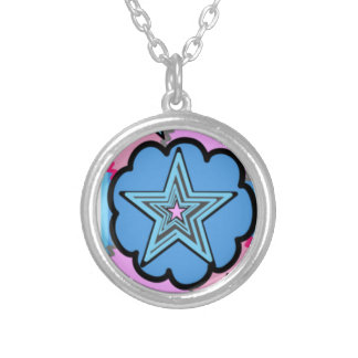 Starry Fun Silver Plated Necklace
